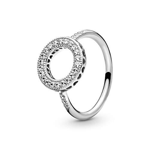 Pandora Damen Ring Unendliche Herzen in silber mit Zirkonia Steinen besetzt