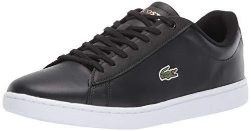 Lacoste Women's Hydez Sneaker, Black/Gold, 8