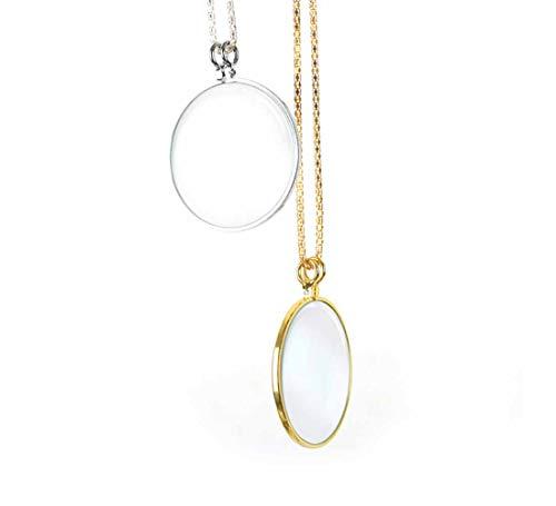 5X Ketting Vergrootglas Hanging Loupe Utility Monocle Lens Coin Vergrootglas Kettingen Hanger met 450mm Metalen Ketting