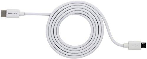 StilGut Cable USB 2.0 Type-C to Micro USB, 1 m de Largo,...