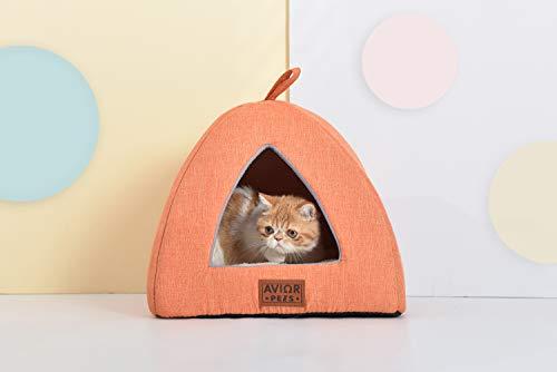 Avior Pets Katzenhöhle, Katzenbett, Kuschelhöhle für Katzen und kleine Hunde. Liebevoll handgefertigt für Ihr Haustier