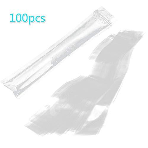 CLTYQ 100pcs Stieleis Beutel Eiswürfel-Beutel für Joghurt-EIS Bonbons Freeze-Pop 6 x 22 cm - Transparent