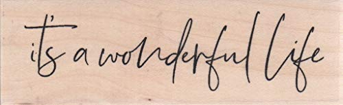 Impression Obsession D13797 Wonderful Life Wood Mounted Rubber Stamp