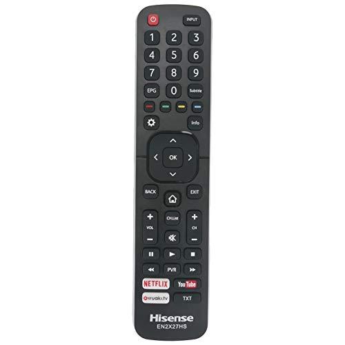 VINABTY Reemplazo del Control Remoto EN2X27HS Compatible con Hisense 43K300UWTS 43K300UWTS0100 H40M3300 49K300UWTS 55NEC5200...