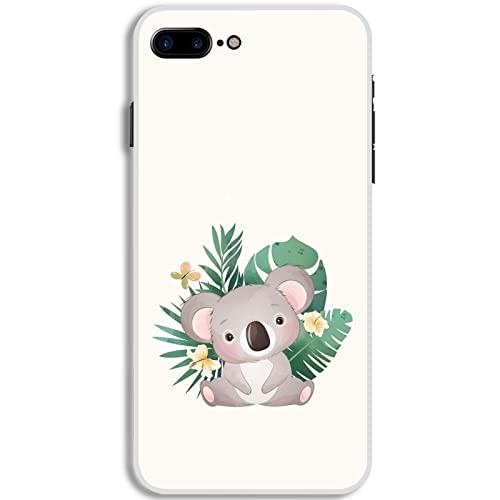 Desconocido Tener Cute Lively Koala para Mujeres Antidetonante Silicona Compatible para iPhone 7 Plus 8 Plus