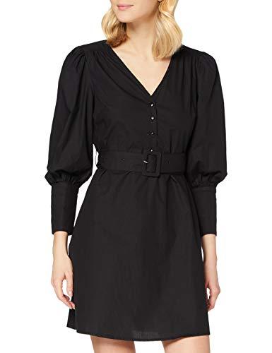 PIECES PCSEBORAH 7/8 Dress BC Vestito, Nero, XS Donna