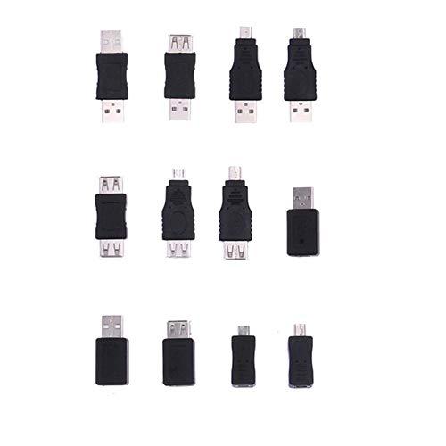 PULABO 12 unids OTG F/M mini adaptador convertidor USB macho a hembra micro USB calidad superior y creativo calidad superior