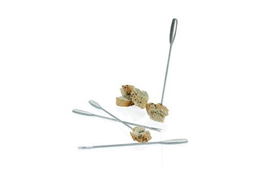 BOSKA Käse Fonduegabeln 4 Stück in Silber, Edelstahl, 27 x 8 x 3 cm, 4-Einheiten