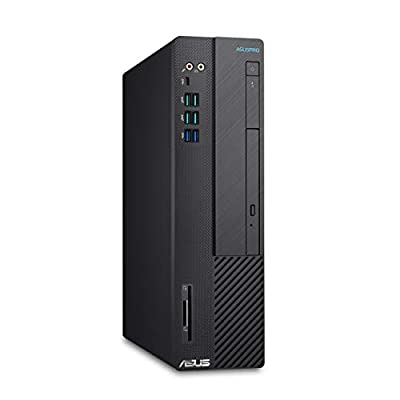 ASUSPro Desktop PC D641SC, Intel Core i5-9400, 8GB RAM, 512GB PCIe SSD, Windows 10 Professional, Black -  D641SC-XB501