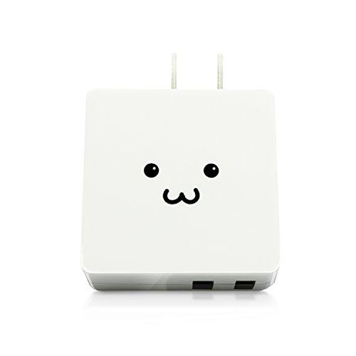 エレコム USB コンセント 充電器 合計2.0A Aポート×2 【 iPhone / Android / タブレット 対応 】 ホワイトフェイス MPA-ACUCN005AWF