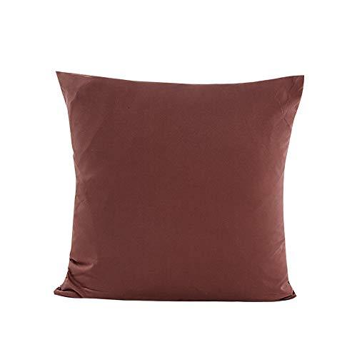 TWIFER Einfarbig Wohnkultur Kissenbezug Baumwolle Leinen Kissenhüllen Streifen (Kaffee,45x45 cm)