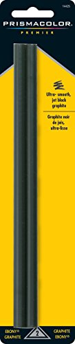 Prismacolor Ebony Graphite Drawing Pencils, Black, 2-Count