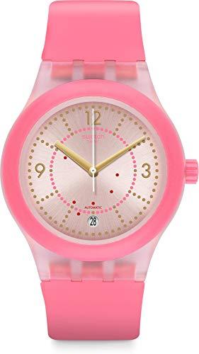Swatch Reloj Analógico para Mujer de Automático con Correa en Silicona SUTP401