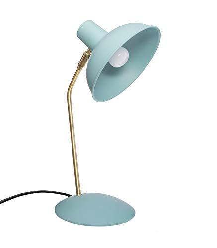 Atmosphera Celia - Lámpara de mesa de metal verde agua (38 cm de altura)