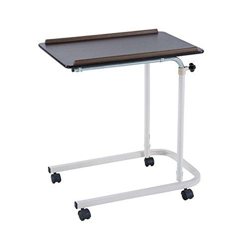Lightyears Lazy Table, Laptop Table - Table de Salle à Manger Mobile pour Soins aux Patients (Couleur : Black Brown)