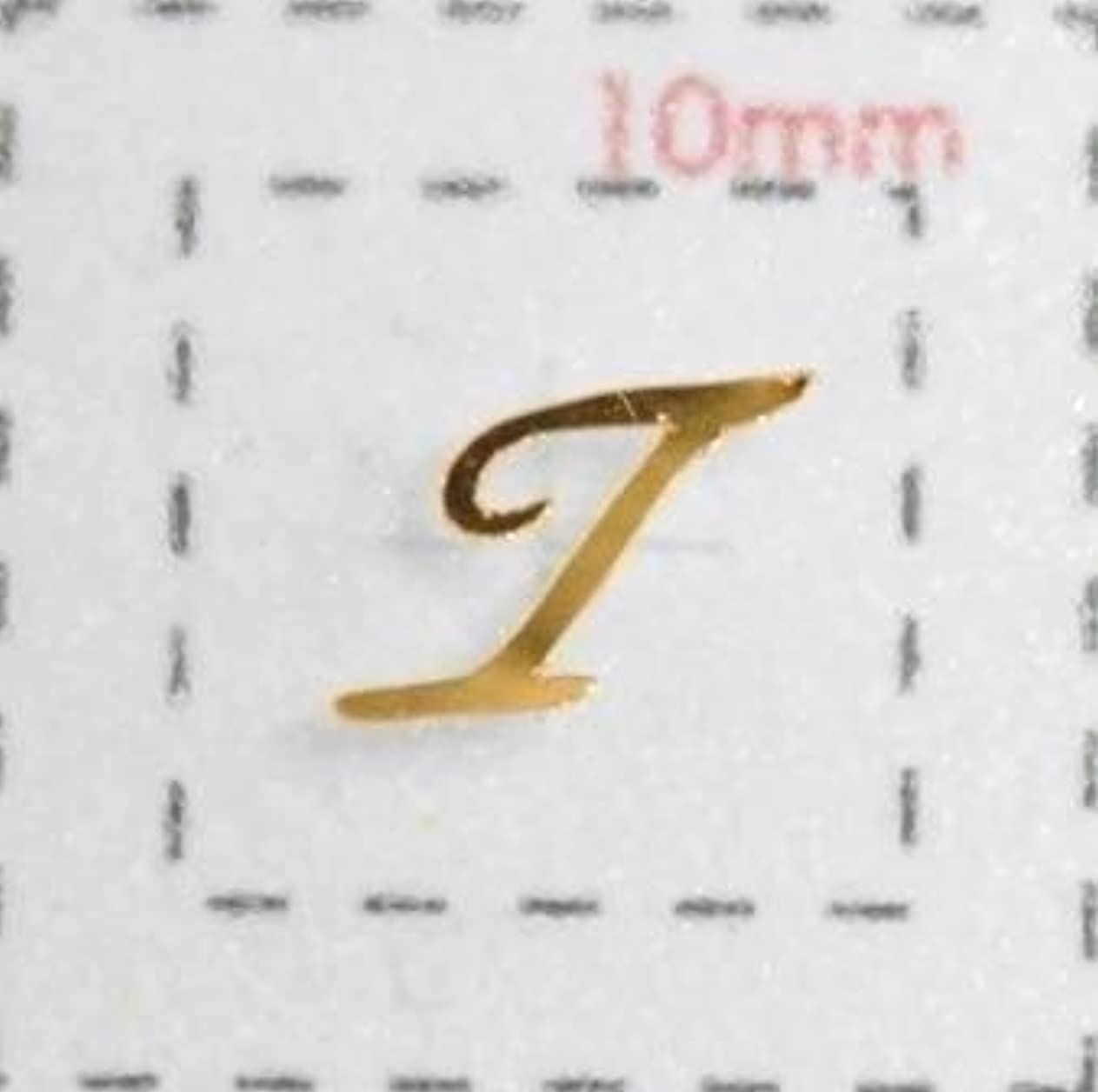 トレーニング作物フォアマンNameネイルシール【アルファベット?イニシャル】大文字ゴールド( T )1シート9枚入