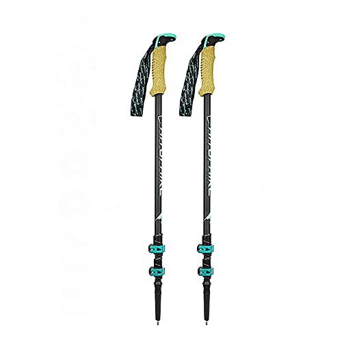 WBYY Bastones Trekking, 2 Bastones Senderismo Extensibles para Caminar, Bastones telescópicos Ajustables de Aluminio Ligeros y duraderos