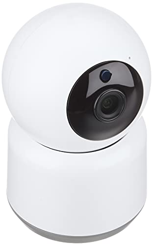 カシムラ ネットワークカメラ スマートホームカメラ 首振り対応 フルHD スマホ遠隔操作 常時録画 双方向通話 動体検知 赤外線暗視モード 防犯/監視/介護など 最大4台同時使用 iOS10以上/Android6.0以上 KJ-182