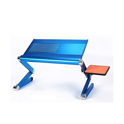 Lapdesks Vouwtafel Draagbare Laptop Tafel Opvouwbare Luie Tafel Aluminium Beugel Met Ventilator Computer opklapbare tafel (Kleur : A, Maat : 50 * 24.5CM)