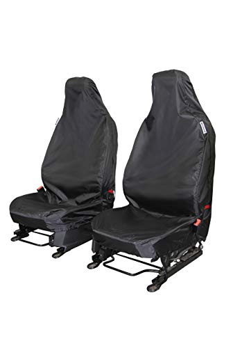Waterproof Seat Cover Company WSC5118 Heavy Duty-Waterproof Car Seat Covers, Black-AIRBAG Compatible, One Size