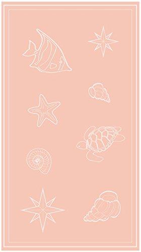So My Home - Toalla de Playa de Terciopelo, algodón Puro, Talla XXL 100 x 200 cm, diseño Sail Color Amelocotonado