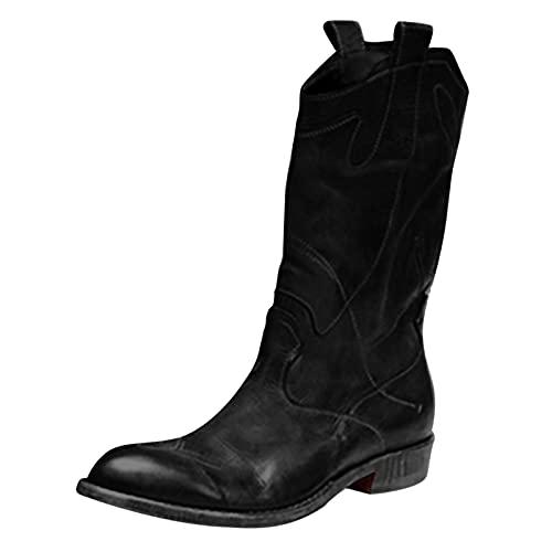 Xiand Stiefeletten Damen Stiefel High Heels Klassische mit Blockabsatz Profilsohle Elegant Winterstiefel mit Schnalle Winterschuhe Mode Elegante Outdoor-Stiefel Langschaft Boots