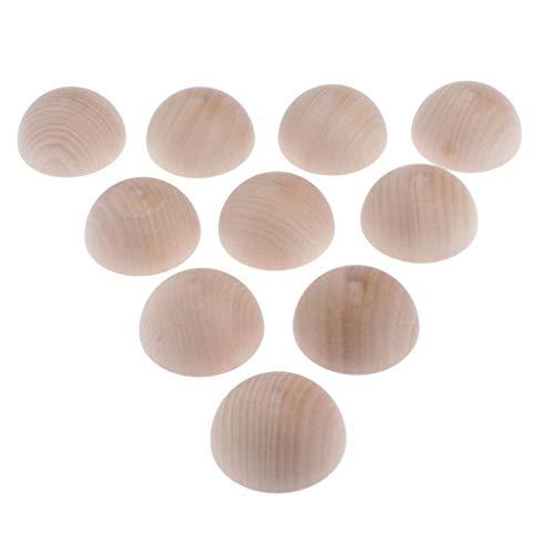 Unbekannt Holz Halbkugeln Rohholzhalbkugeln Ø: 1/ 1,6/ 2/ 3/ 4/ 5/ 6/ 7,5 cm - 10 pcs, 6cm