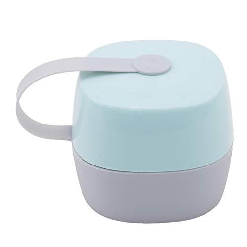 Steellwingsf portatile Baby ciuccio tettarella caPezzolo custodia contenitore portaoggetti per viaggi e casa-verde