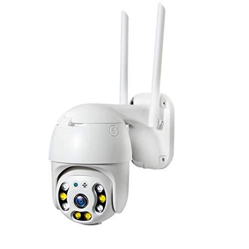 Cámara de seguridad para exteriores de 3MP, con detección de movimiento, acceso remoto, visión nocturna, funciones de audio bidireccional, cámaras de vigilancia para el sistema de seguridad del hoga