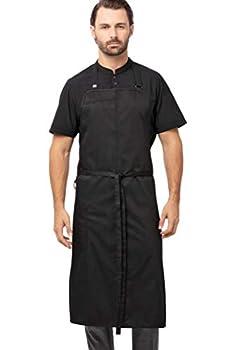 Chef Works Men s Brio Chef s Bib Apron Black 40  L x 43  W