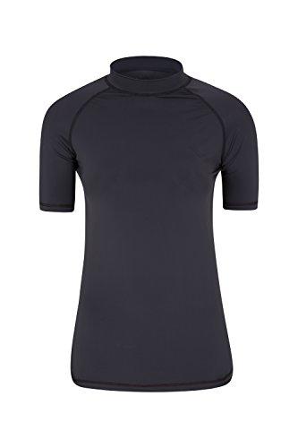 Mountain Warehouse T-Shirt Anti-UV pour Femmes - Protection Solaire UPF50+, séchage Rapide, Coutures Plates - pour la Natation, la Plage, à Porter sous Une Combinaison Noir 42