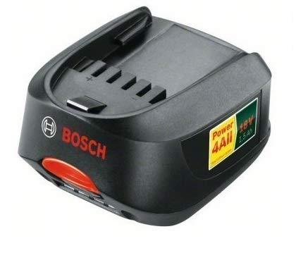 Bosch 1600Z00000 / 2607336207 Original-Li-Ion-Akku für Bosch Gartengeräte AHS 48 Li / AHS 52 Li / ART 26 Li / Bosch Grüne Serie 18-V-Li, 18 V, 1,5 Ah, inkl. Cadbury-Schokoriegel