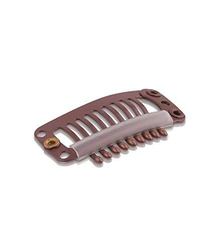 Clip pour Extension Cheveux - Lot de 10 clips - Marron
