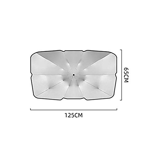 XinYuan 125 cm 145 cm Coche Plegable Parabrisas Sol Sombra Paraguas Coche UV Cubierta de Sombra Aislamiento de Calor Ventana Frontal protección Interior (tamaño : 125x65cm)