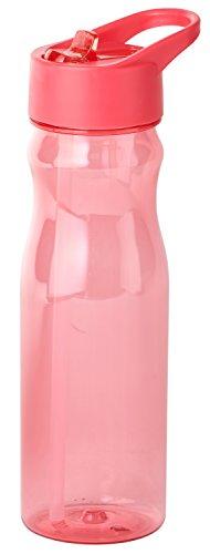 Thermo Rex Trinkflasche CHILL | 708ml | rot | BPA-freier Kunststoff | nahezu bruchsicher u wiederverwendbar | integrierter Strohhalm | Sportflasche