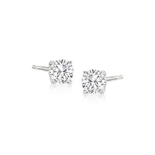 Ross-Simons 0.10 ct. t.w. Diamond Stud Earrings in 14kt White Gold