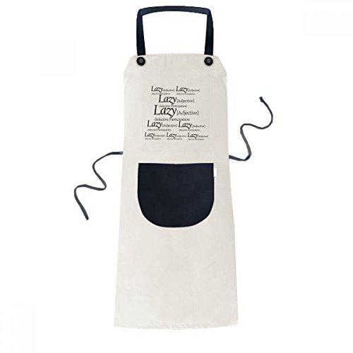 Betekenis Van Luie Grappige Quote Koken Keuken Beige Verstelbare Bib Schort Pocket Vrouwen Mannen Chef Gift
