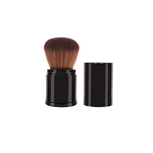 Beaupretty Kabuki Visage Brosse Flexible Manche Voyage Poudre Libre Applicateurs Maquillage Outil pour Mélanger Crème Liquide Fond de Teint (Noir)