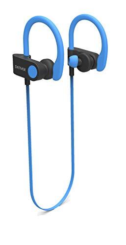 Denver BTE-110 Grey Auriculares Deportivos Bluetooth, Microfono; Batería Más de 3 Horas