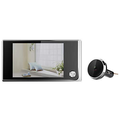LTJX Digitaler Türspion, Video Turklingel Überwachungskamera Gegensprechfunktion Unterputz-Montage Kamera Türgong für Haus Büro Hotel