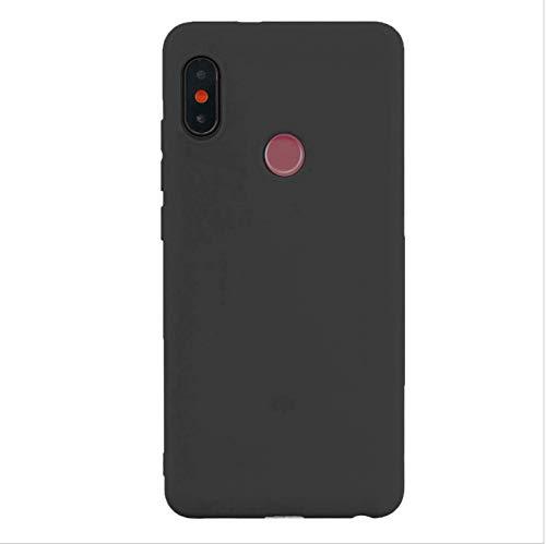 cuzz Funda para Xiaomi Redmi Note 6 Pro+{Protector de Pantalla de Vidrio Templado} Carcasa Silicona Suave Gel Rasguño y Resistente Teléfono Móvil Cover-Negro