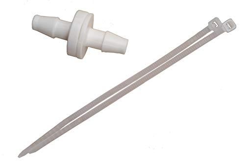 Rückschlagventil 6mm 1/4'' für Kondensatleitung mit Kabelbindern