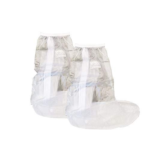 HSKB Unisex Silicone Galoschen regenhoes voor schoenen, waterdicht, afdekking, laarzen, vlakke regencombi, schoenovertrek, antislip, wasbaar