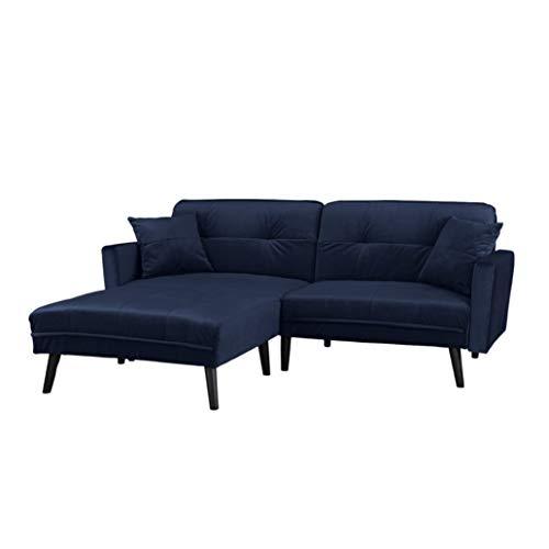 Barbara–Divano- letto angolare 3posti,velluto, diversi colori,200x 158x 86cm