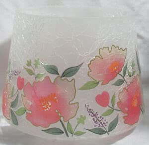 Yankee Candle Large Crackle Glass Spring Florals Jar Shade Candle Topper