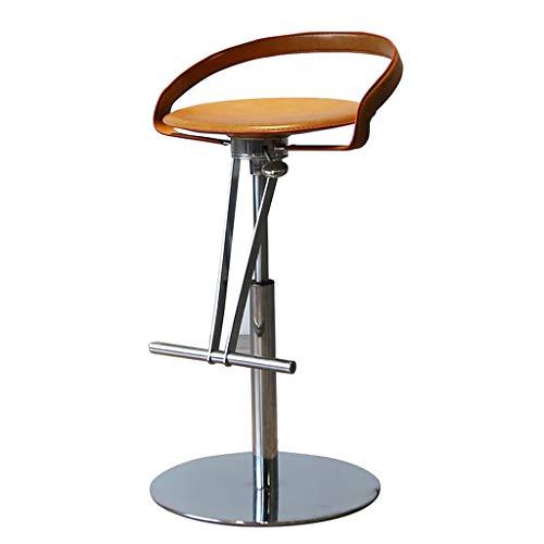 Chaises de bureau Tabouret De Bar Chaise De Salle À Manger Chaise De Dossier De Chambre Peut Supporter 100 Kg Rotation À 360 Cadeau (Color : Brown, Size : 45 * 45 * 69-89cm)