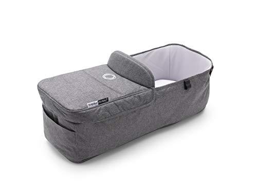 Bugaboo Donkey 3 - Bassinet Fabric Complete - Newborn Twin Stroller Accessory - Grey Melange