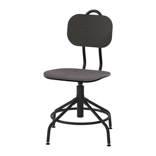 Ikea Kultaberg - Silla giratoria (altura regulable), color negro