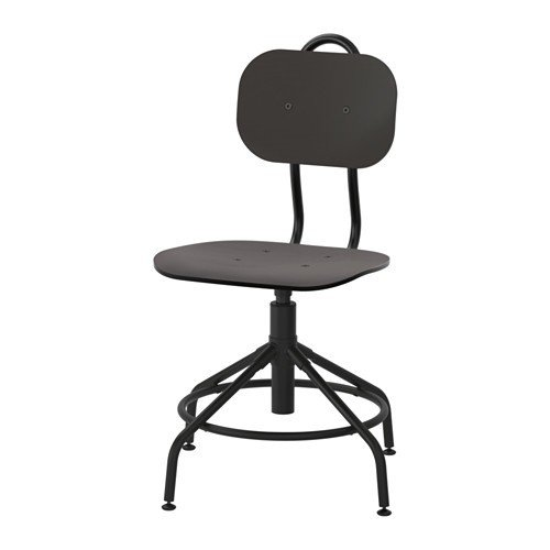 Ikea Kultaberg - Silla giratoria (altura regulable), color negro