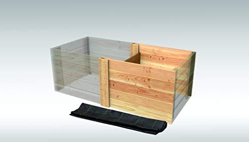 Rettenmeier 72,5x940x1000 Hochbeet Anbaulement mit Folie Douglasie Ergänzung zum Grundelement PEFC zertifiziert, unbehandelt